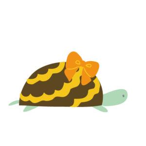 ノロノロと動く亀