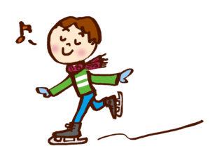 スイスイと氷の上を滑る男の子