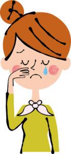 シクシクと泣いている女性